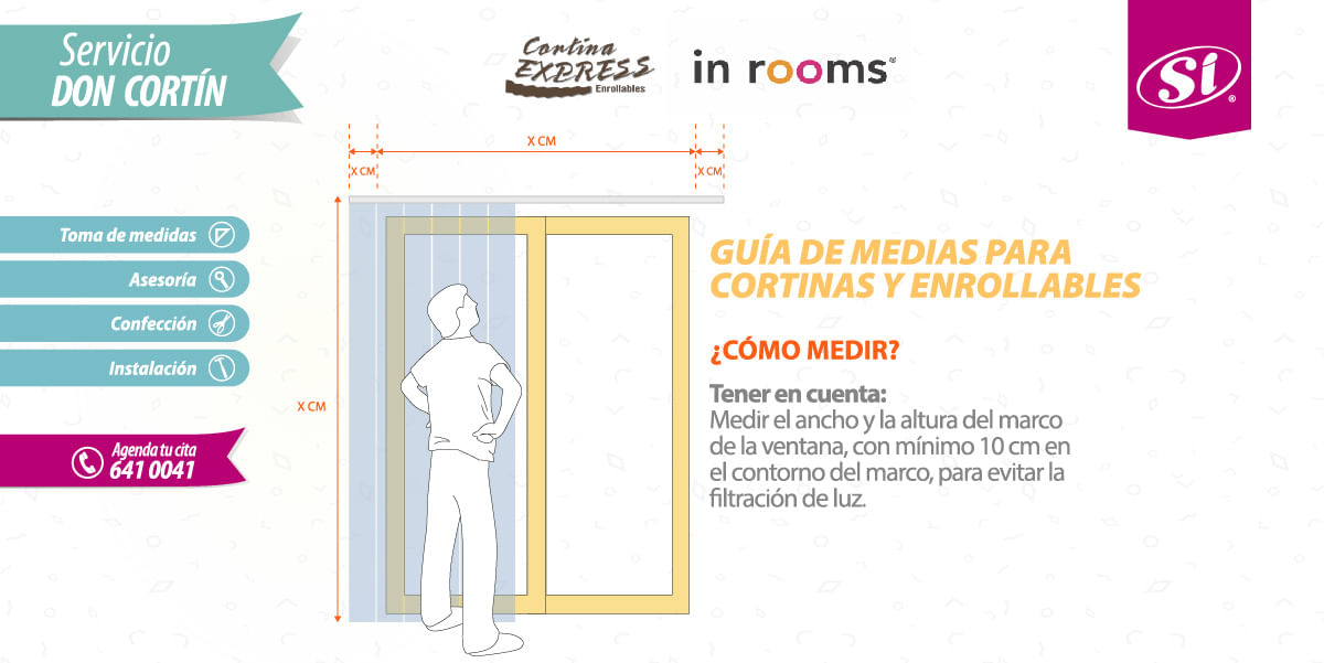 guia de dimensiones - cortinas enrollables